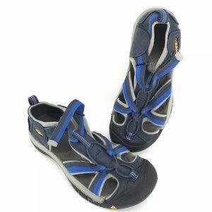 Keen Sandals Mens sz 6 Blue Gray Shoes Hiking open
